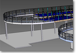 Kart Track: Structural 3D view